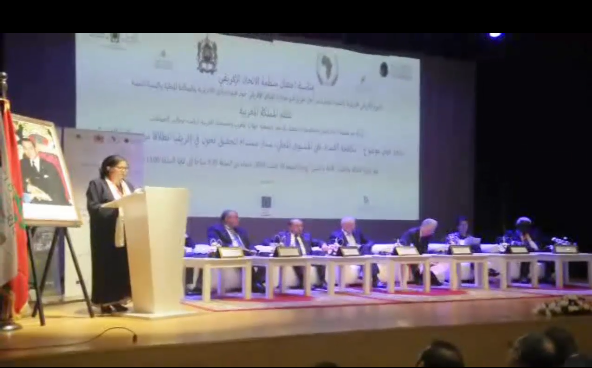 إفتتاح الإحتفال بمنظمة الاتحاد الأفريقي بالرباط 10 غشت 2018