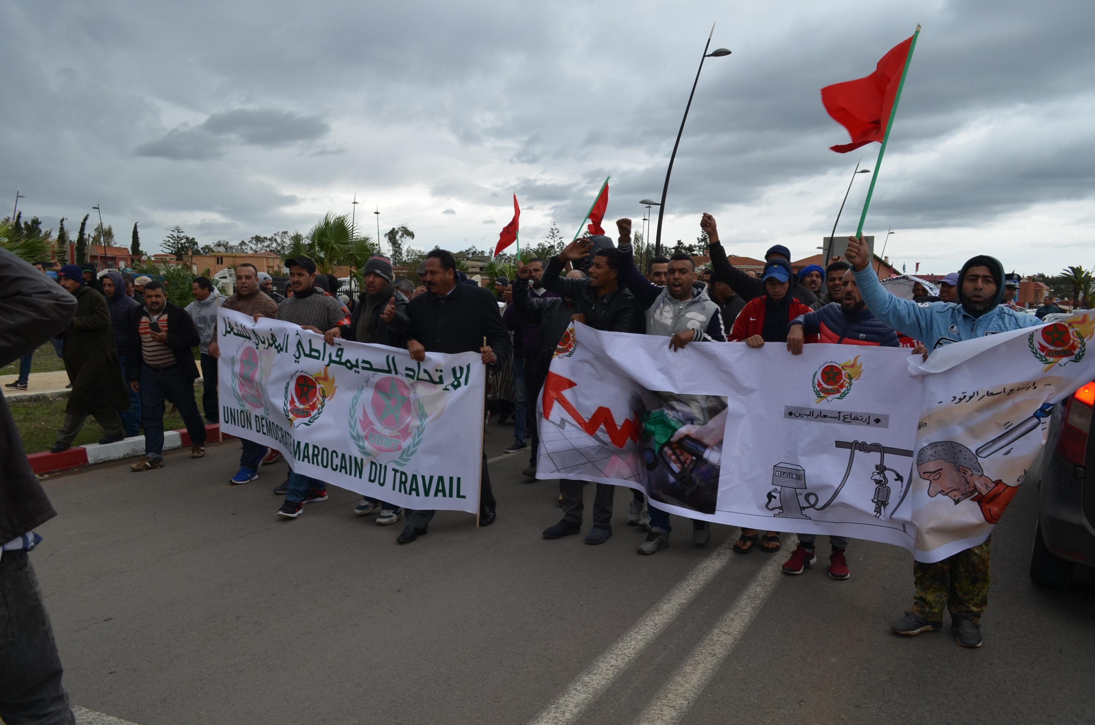 إحتجاجات سائقي الطاكسيات ببنسليمان على غلاء أسعار الغازوال: 2018 10 30