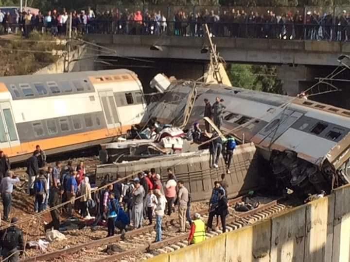 فاجعةاسفرت عن وفاة سبعة أشخاص سببه انحراف قطار ببولقنادل ...